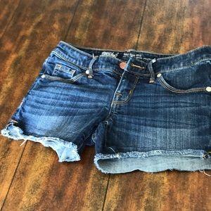 Women's Midrise Midi Denim Shorts